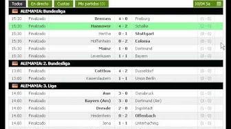 Resultados de Futbol en Directo Actualizados en Vivo