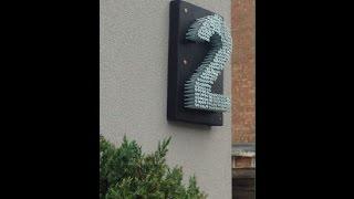 Unique House number sign
