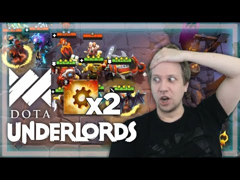 DOUBLE Unstable Reactor Chaos - Over 400k Damage Dealt! - Savjz Dota Underlords