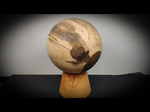 Kugel Nuss Holz Drechseln Woodturning