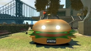 Grand Theft Auto Iv - Hamburger Car (mod) Hd