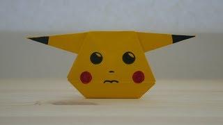 Оригами. Как сделать Пикачу из бумаги (видео урок)
