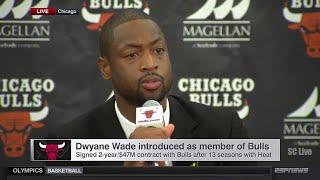 Chicago Bulls Introduce Dwyane Wade (FULL)