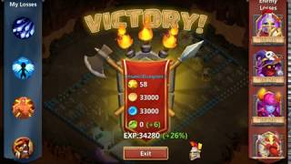 Insane dungeon 2-1 clearing by only f2p heroes | castle clash |