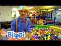 Blippi Learning Body Party At The Indoor Play Place | Educational Videos For Kids
