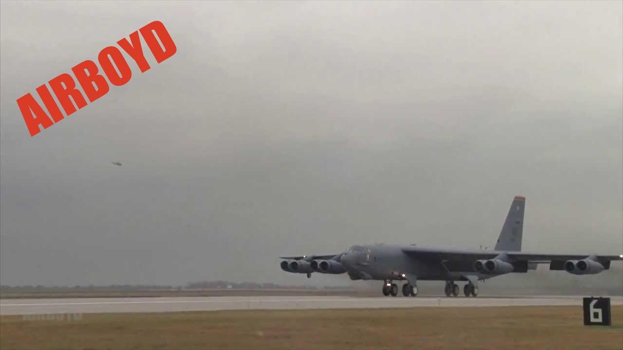 B 52 Bomber Take Off