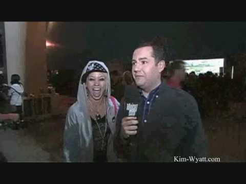 Kim at the madonna concert