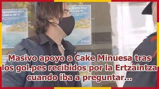Masivo apoyo a Cake Minuesa tras los gol.pes recibidos por la Ertzaintza cuando iba a preguntar...