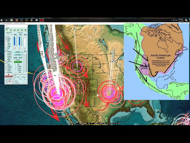 7/15/2019 -- Major seismic unrest underway -- GLOBAL + West Coast California UPDATE