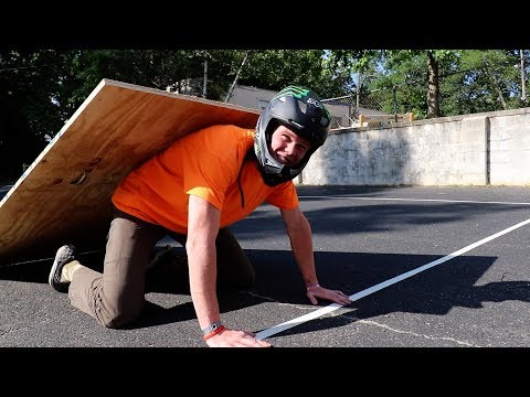 HUMAN BICYCLE RAMP!