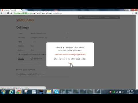 How to link your mojang account to twitch tv toutorial for ...