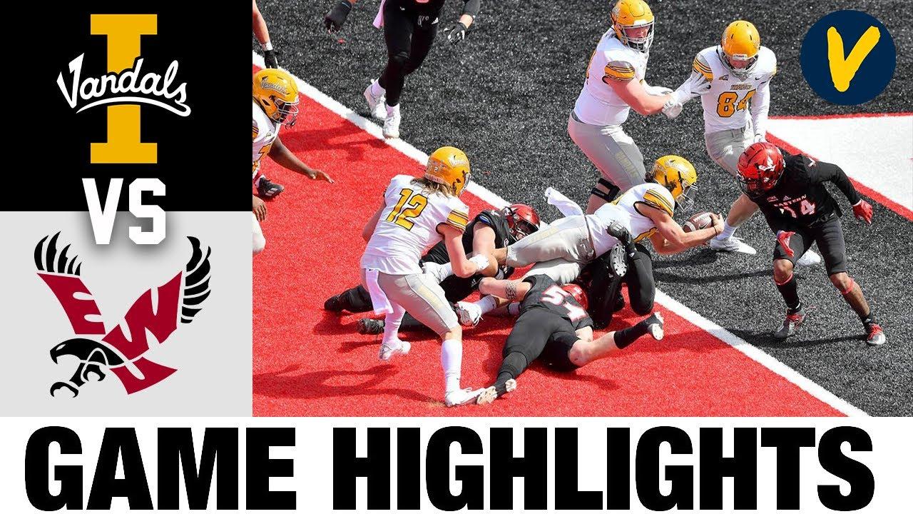 Idaho vs #9 Eastern Washington Highlights | FCS 2021 Spring College Football Highlights