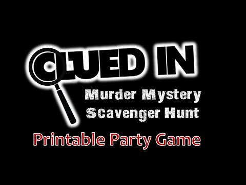 image relating to Quick Solve Mysteries Printable identified as Clued-In just Murder Top secret Scavenger Hunt - Printable Occasion