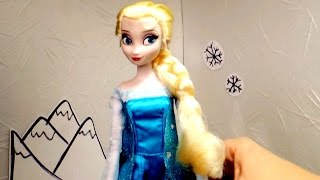 Кукла Эльза (Холодное сердце). Дисней. Распаковка и Обзор куклы. Видео для девочек