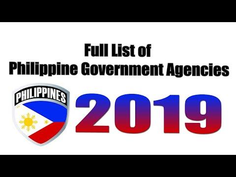Philippine Government Agencies 2019