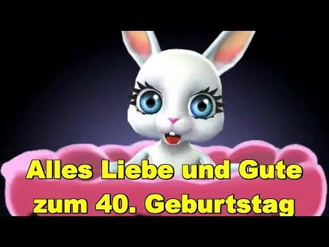 Zum 40. Geburtstag alles Liebe & Gute, Gesundheit & Glück ❤️ ❤️ Happy Birthday to You ❤️