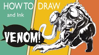 How to Draw Venom - Easy Drawings
