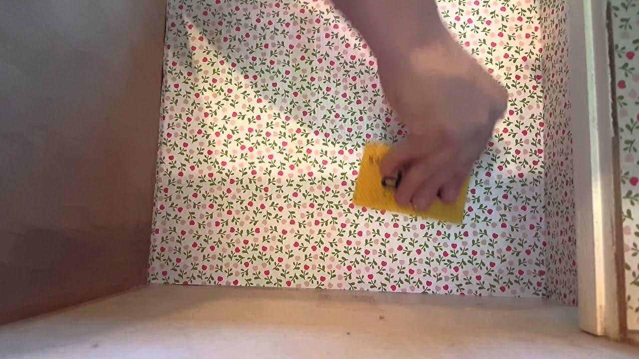 miniature dollhouse diy wallpaper/windows - youtube