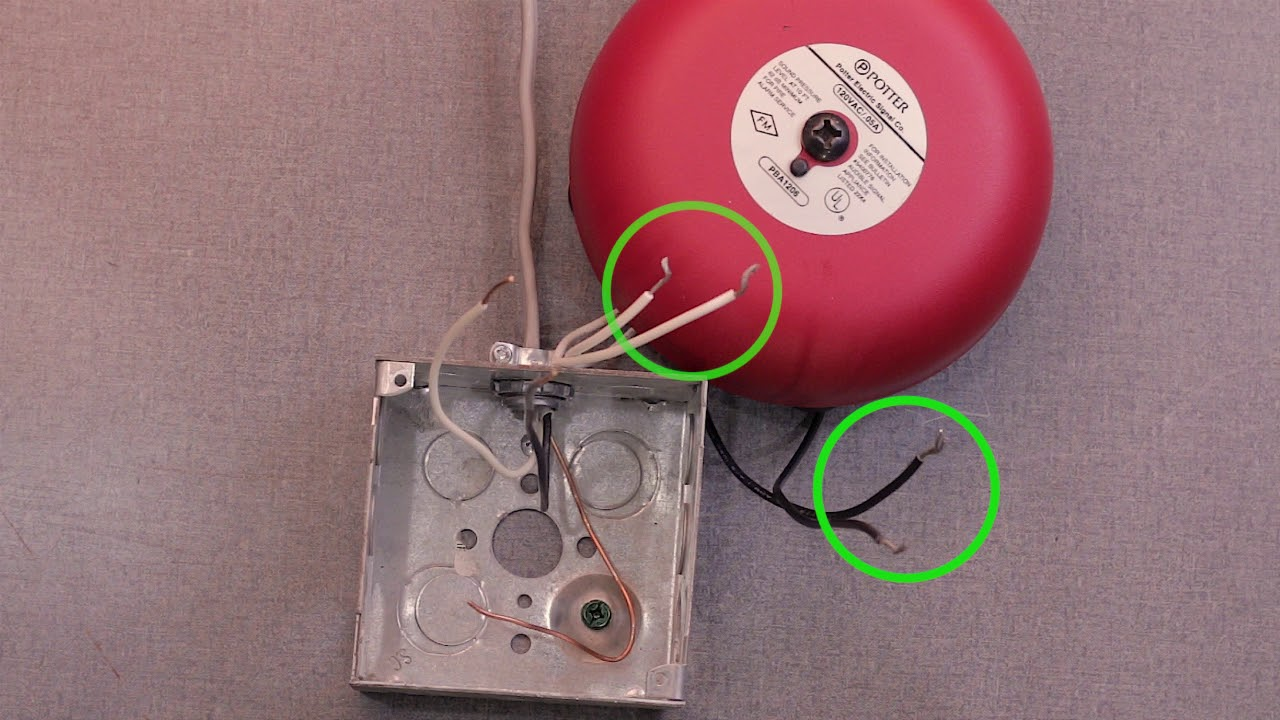 smoke alarm wiring diagram catalina 22 how to wire a potter vsr flow switch bell youtube