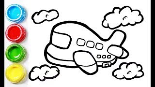 Fast plane coloring and drawing for Kids,Toddlers丨Bobbi Toy Art