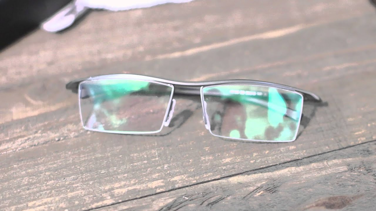 9684de6504 Agstum Pure Titanium Half Rimless Business Glasses  Review - YouTube