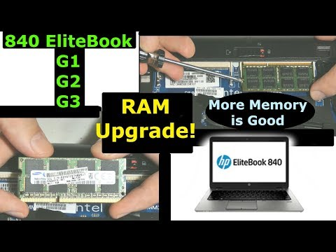 Upgrading Memory RAM in HP 840 G1 EliteBook, 840 G2 or 840