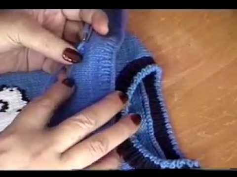 Hướng dẫn đan cổ tròn áo len (cách 1)