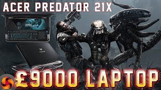 Acer Predator 21x review – the £9,000 gaming laptop! (21.5 inch 120HZ IPS curved)