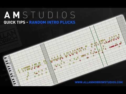 Allan Morrow  AM Studios - Quick Studio Tip - Random Intro Plucks