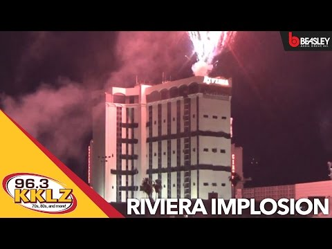 Riviera Hotel & Casino Implosion in Las Vegas