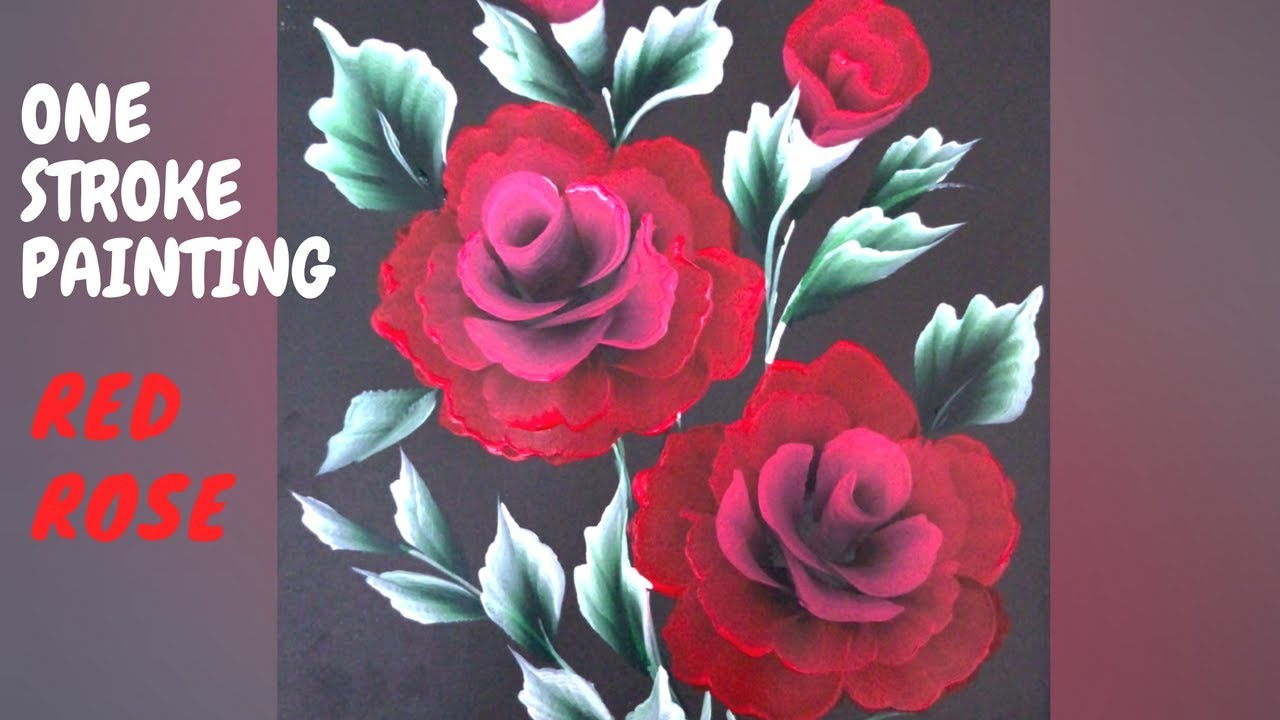 How to paint Red Rose | Simple and easy tutorial |Christmas series - YouTube