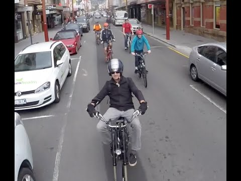 electric-bikes,-taking-over-the-streets-of-hobart
