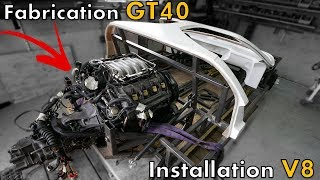 GT40 Project - Installation du moteur V8 sur la GT40, le scanne a fonctionné ??! [GT40 project #14]