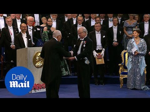 Nobel Prize winners received awards from Swedish royal family - Daily Mail