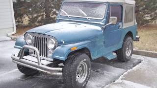 Jeep CJ start attempts in 0 degree icy weather