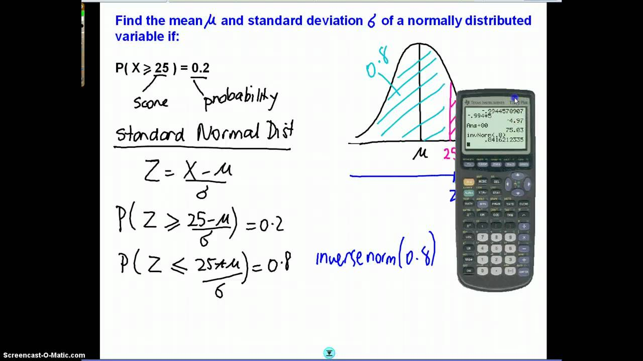 Mean and standard deviation of a normal distribution youtube ccuart Image collections