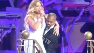 Mariah Cary Has Wordrobe Malfunction And Almost Loses Her Skirt At Vegas Concert