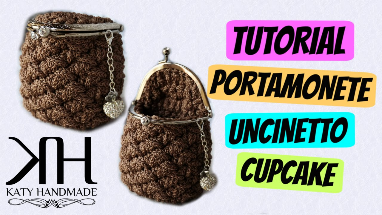 "Amato Tutorial uncinetto portamonete ""Cupcake"" 