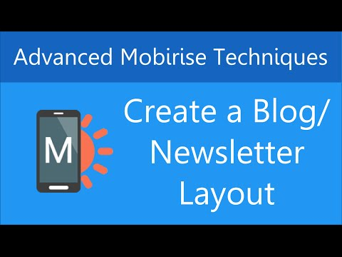 Create a Blog/Newsletter Layout in Mobirise