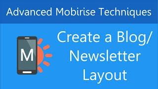 Erstellen Sie eine Blog - /Newsletter-Layout in Mobirise