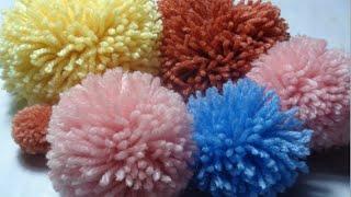 Resultado de imagen de pompon de lana con carton