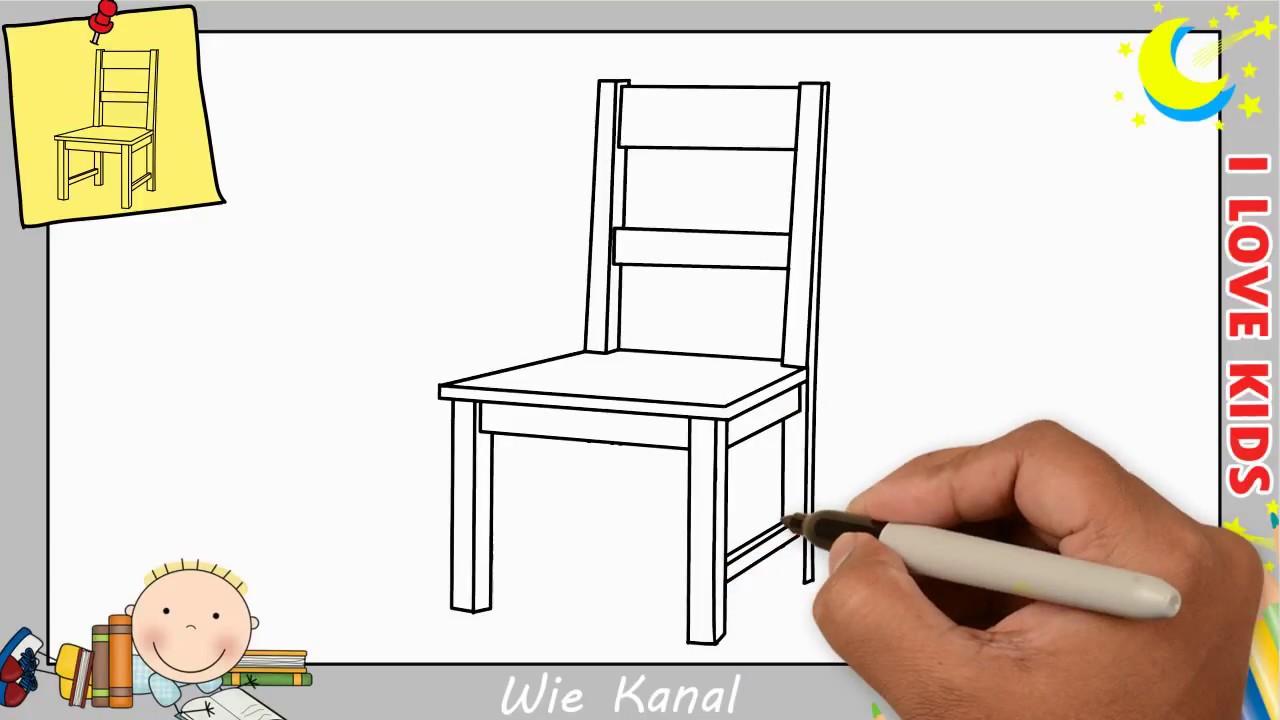 stuhl zeichnen lernen einfach schritt f r schritt f r. Black Bedroom Furniture Sets. Home Design Ideas