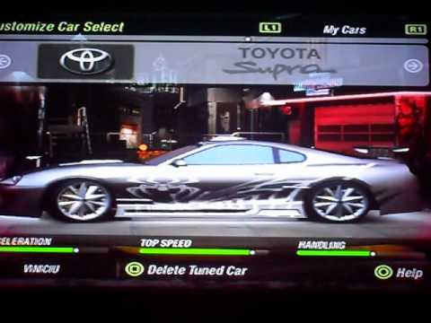 carros tunados do need for speed underground 2 de ps2. Black Bedroom Furniture Sets. Home Design Ideas