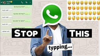 I Hate Whatsapp Chatting | Whatsapp Status | Whatsapp Emoji | Funny Video 😂