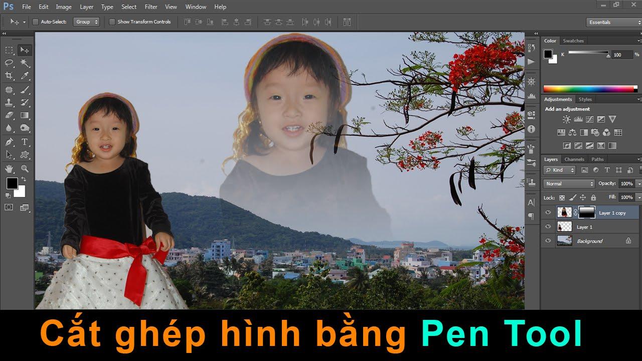 Photoshop CS6: Cắt ghép hình bằng Pen Tool [Beginner]