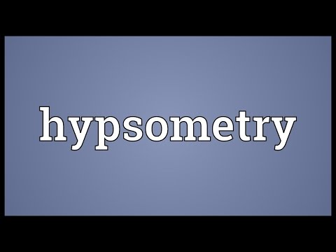 Header of hypsometry