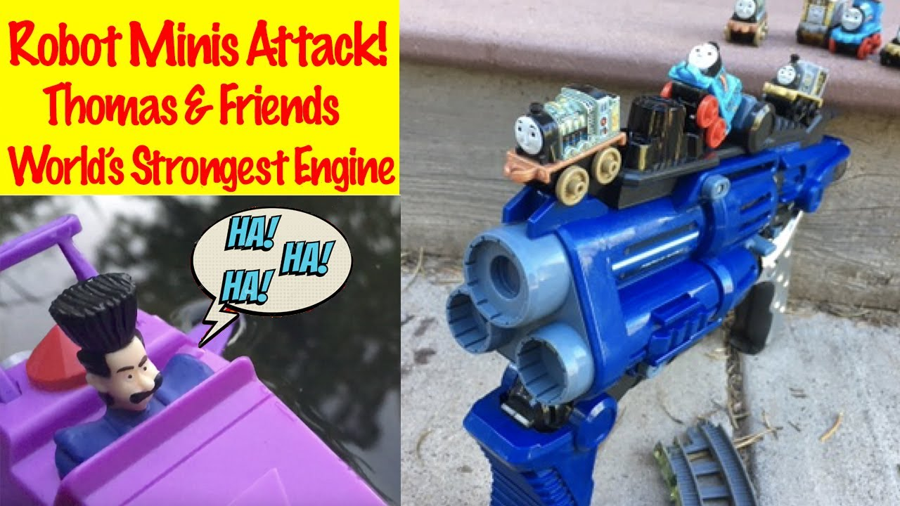 Attack of the Mini Robots - Thomas and Friends World's Strongest Engine with Toy Trains