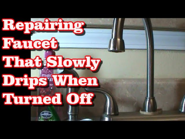 Faucet Dripping After Water Turned Off Youtube