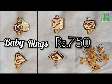 Latest Gold Baby Ring Design Price..750 Onlly