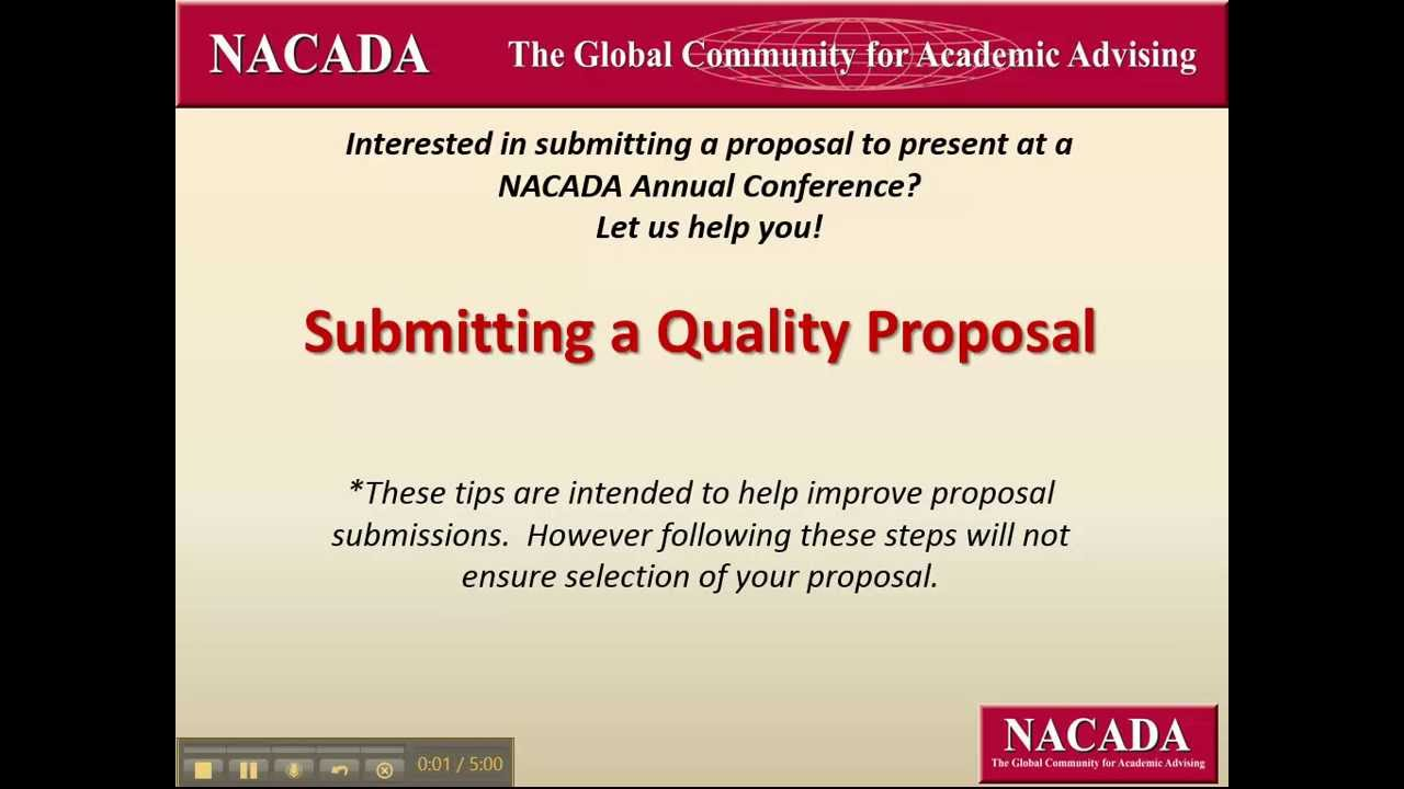 nacada annual conference: submitting a quality presentation, Presentation templates
